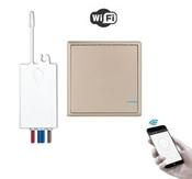 Умный выключатель и радиореле с WiFi управлением, золотой. Модель: Я смарт R1G